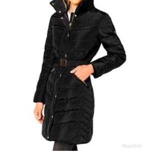 Lands End black feather down quilted
